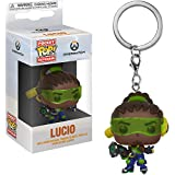 Funko Lucio: Overwatch x Pocket POP! Mini-Figural Keychain + 1 Video Games Themed Trading Card Bundle [32796]