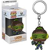 Funko Lucio: Overwatch x Pocket POP! Mini-Figural Keychain + 1 Video Games Themed Trading Card Bundle [32796]