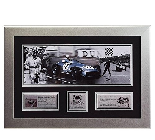 Framed Coins Photomint (Signed Sir Stirling Moss Framed Montage 2 - Landscape Silverstone F1 - NASCAR Photomints and Coins)
