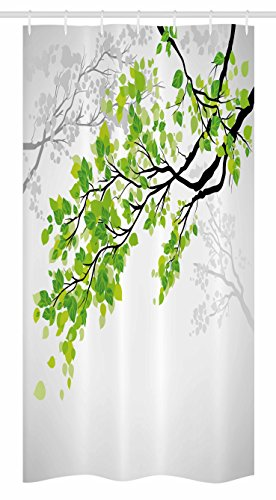 Ambesonne Nature Decor Stall Shower Curtain, Twiggy Spring T
