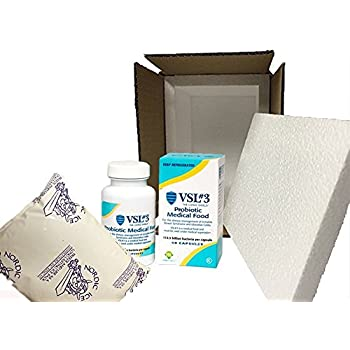 VSL#3 60 Capsules+Styrofoam Lined Box+32oz Ice Pack