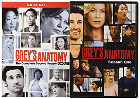 Grey's Anatomy Starter Bundle (Season 1 and 2) (Greys Anatomy Dvd Seasons)