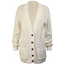 PurpleHanger Women's Long Sleeve Cable Knit Chunky Cardigan
