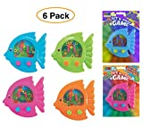 Fun Express Handheld Fish Shaped Ring Toss Classic Water Games (Pack of 6) for Party Favors