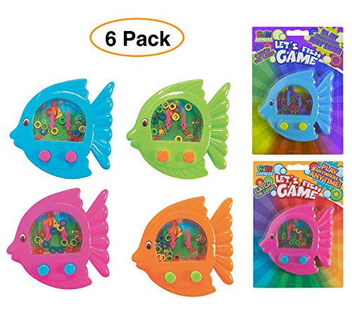 (Fun Express Handheld Fish Shaped Ring Toss Classic Water Games (Pack of 6) for Party Favors)