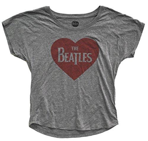 The Beatles Heart Crop Top Womens Shirt L (The Womens Beatles Tshirt)