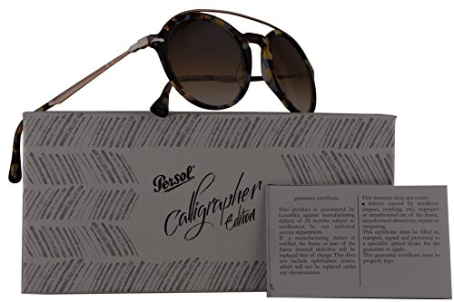Persol PO3172S Calligrapher Edition Sunglasses Blue Beige Brown Havana w/Brown Gradient Lens 51mm 105851 PO 3172-S PO3172-S PO - Sunglasses Persol Cheap