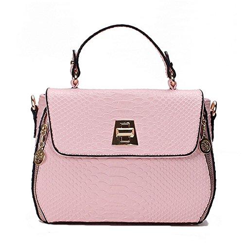 Alot New Female Crocodile Pattern Messenger Handbags(pink£