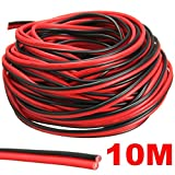 Audew Red/Black Hookup Wire Car Wiring Harness 12V DC 20 AWG for LED Strip Extension Audio Speaker Wire 2 Meters/ 5 Meters/ 10 Meters/ 20 Meters 10 Meters