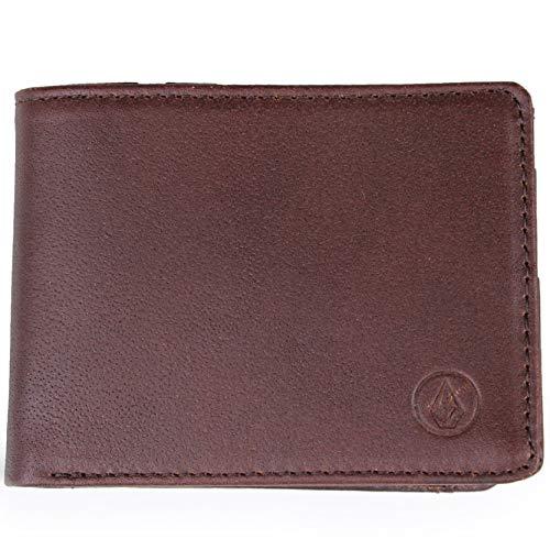 - Volcom Brown Strangler Leather Bifold Wallet (Default, Brown)