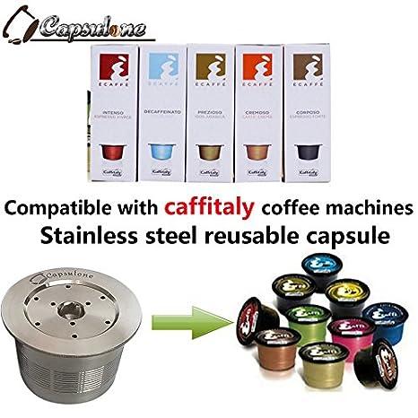 capsulone/compatible Caffitaly máquina de café cápsula de metal de acero inoxidable: Amazon.es: Hogar