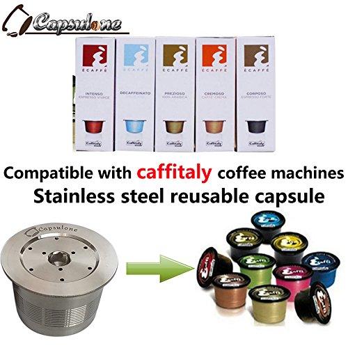 capsulone/COMPATIBLES Caffitaly máquina de café Acero inoxidable metal Cápsula