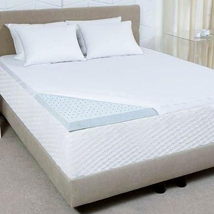 cce9b531f6d6 Sleep Joy 2-Inch Gel Memory Foam Mattress Topper, Twin, Blue: Amazon.ca:  Home & Kitchen
