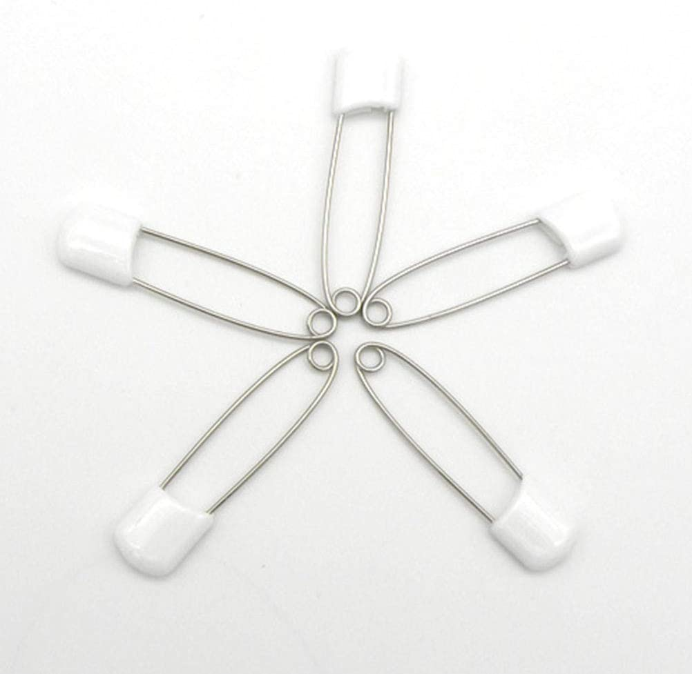 Supvox 50 Pcs Plastic Head Baby Diaper Safety Pins Baby Safety Pins Diaper Pins Safety Locking Baby Cloth Diaper Nappy Pins Pins Pincushions Home