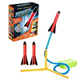 Jump Pump Foam Stomp Rocket Launcher Toy with 3 Refill Rockets Outdoor Educational Toy for Boy Girl Gift