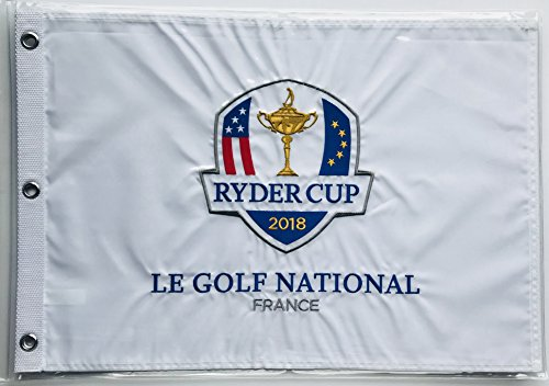 0c7157d2a 2018 Ryder Cup Flag le golf national France embroidered logo new