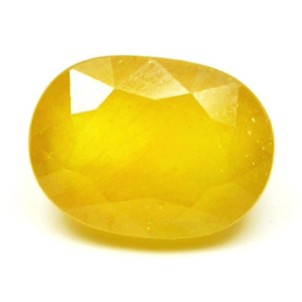 Genuine Natural Yellow Sapphire Loose Gemstone 5.5 Carat Oval Shape Stone For Jewelry making With Wholesale Price