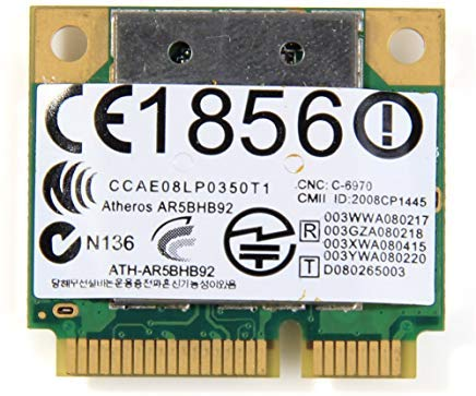 Wireless PCIe Card BGN AR5BHB92 AR9280 Dual-band 2.4/5.0GHz 2x2 MIMO 300 Mbps 802.11b/g/n for DELL Toshiba Acer Sony Samsung Asus etc by Atheros