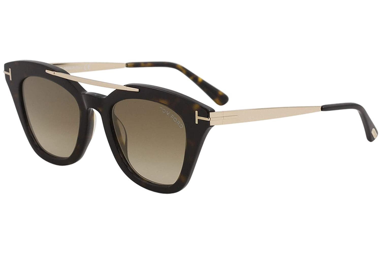 2daadcc42c94a Sunglasses Tom Ford FT 0575 Anna- 02 52G dark havana   brown mirror at  Amazon Men s Clothing store
