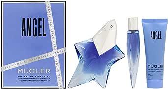Thierry Mugler Thierry Mugler Angel 3 Pc. Gift Set for Women EDP 0.3 oz + Bath & S/G 1.7 oz + EDP 1.7 oz, 51 ml