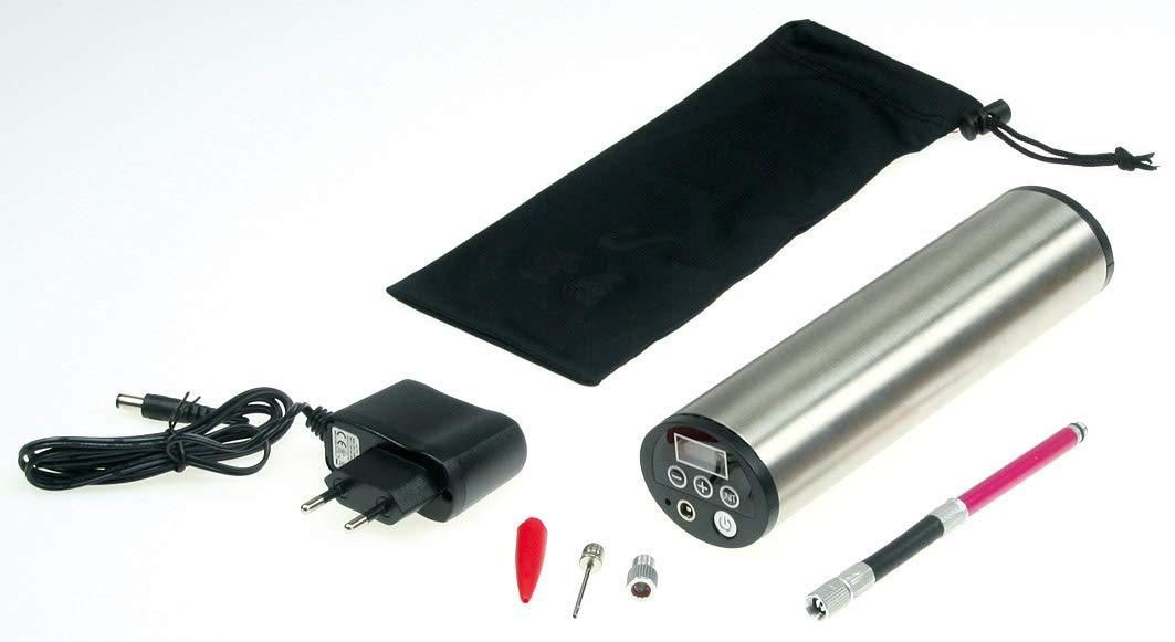 KFZ-Adapter Druckeinstellung ChiliTec 21329 Hochleistungs Luftpumpe mit LiIon Akku Display