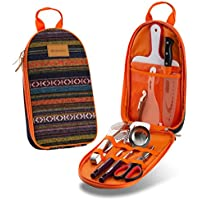 Camp Kitchen Utensil Organizer Travel Set - Portable 8...
