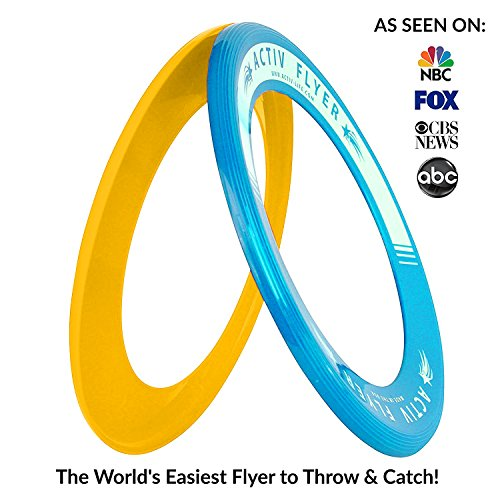 51fyYxZlLyL - Best Kids Frisbee Rings [Yellow/Cyan] - Top Birthday Presents & Gifts for Young Boys Girls Ages 3 and Up - Ultimate Outdoor Toss Toys at Beach Vacation, School Playground, Park, Pool Family Fun