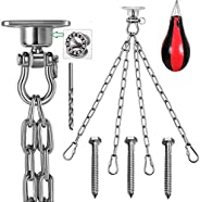 9M 1 Set of Stainless Steel 304 Heavy Duty Boxing Bag Chain, 1000 lb Capacity, 360° +180° Degree Rotary Swing