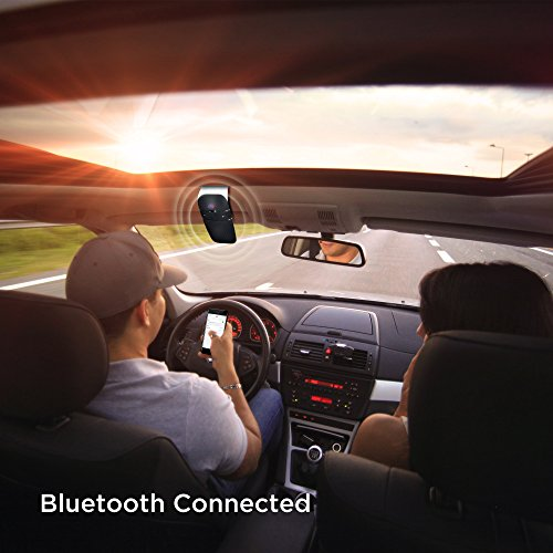 SOAIY S-32 Voice Command Hands-Free Bluetooth in-car Speakerphone, Wireless Bluetooth Car Kit for Safely Driving with Shake Power On Function by SOAIY (Image #5)
