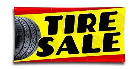 Amazon.com: Cartel de venta de neumáticos para reparación de ...