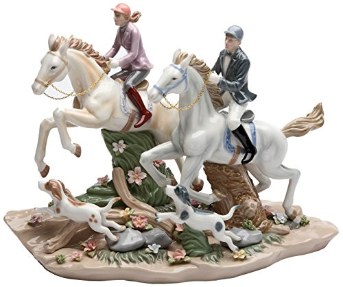 (Cosmos Gifts 20850 Call of The Hunt Ceramic Horse Figurine, 13-1/4-Inch)