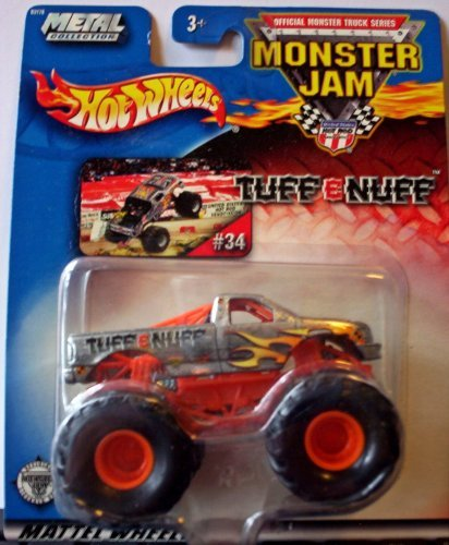 Mud Trucks (Hot Wheels Monster Jam Metal Collection Mattel Wheels #34 TUFF-E-NUFF 2002 Collectible Truck 1:64 Scale)