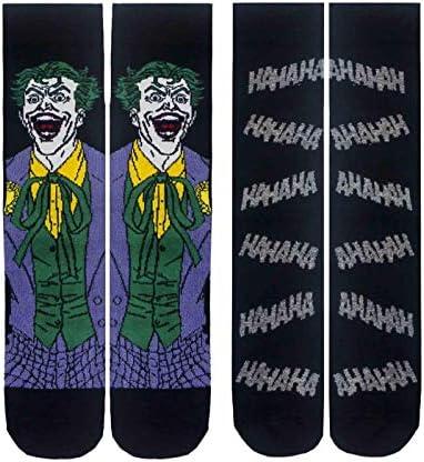 Batman The Joker Mens Socks DC Comics Pack of 2 Sizes 8-12 US