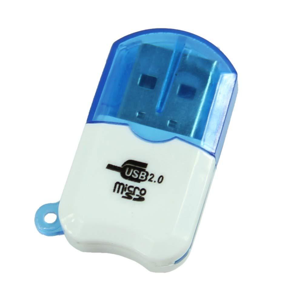 HEASEN Mini Slim Small USB 2.0 Professional Micro SD TF T-Flash Card Reader Writer