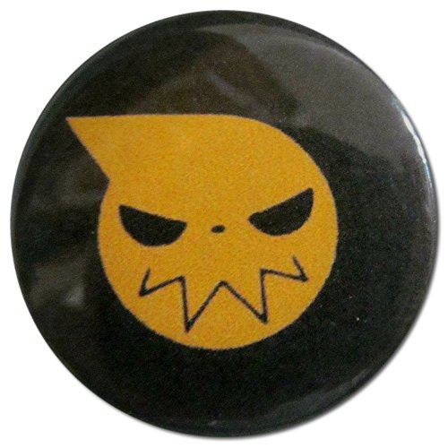 (Baubles of Time Men's Soul Eater Logo Pin Back Button 1.25 Inch Multicoloured)