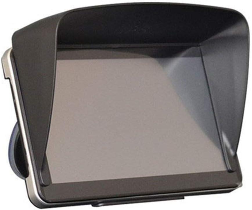 Car-Styling New Universal 7 Pouces Pare-Soleil for Pare-Glare Navigator GPS Voiture LCD Moniteur Visor Anti Glare Int/érieur Auto NO LOGO SHIYM-ZY Couleur : BK
