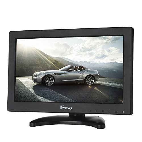 Read About Eyoyo 12 Inch TFT LCD Monitor with AV HDMI BNC VGA Input 1366x768 Portable Mini HD Color...