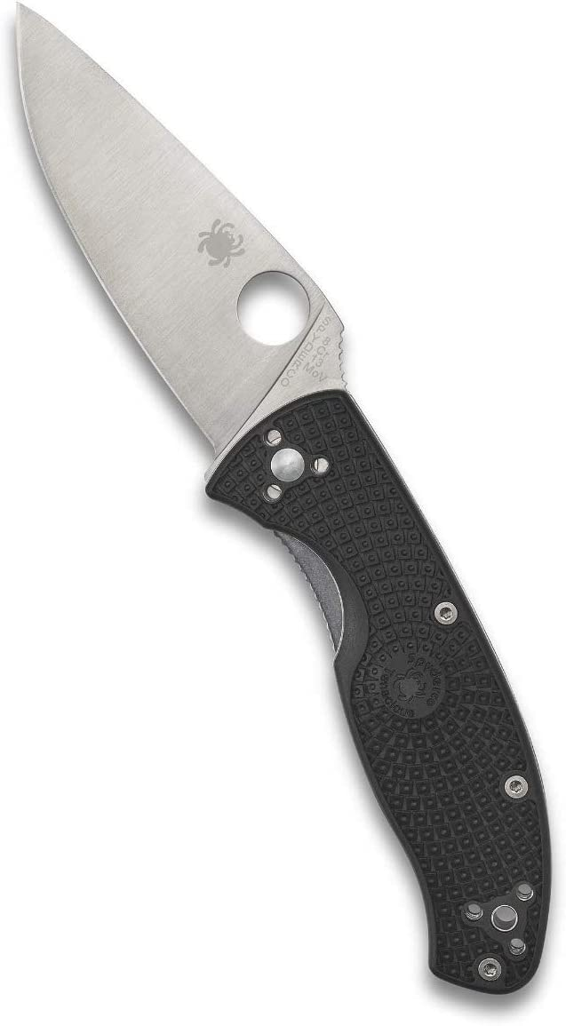 Spyderco Tenacious Lightweight Value Folding Knife with 3.39 Stainless Steel Blade and Durable Black FRN Handle – PlainEdge – C122PBK