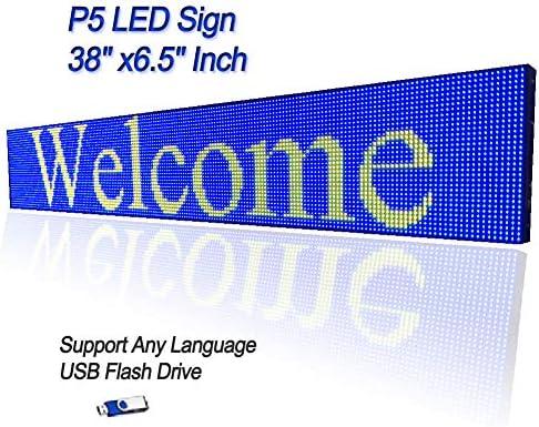 Amazon.com: Full Color LED Sign P5 RGB 38
