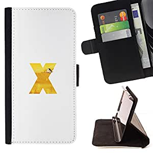 - X Letter Files Initial Os Mac - Estilo PU billetera de cuero del soporte del tir???¡¯???3n [solapa de cierre] Cubierta- For HTC One M8 ( Devil Case )