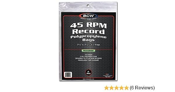 BCW 1-BAG-45RPM Bcw 45 Rpm Record Bags