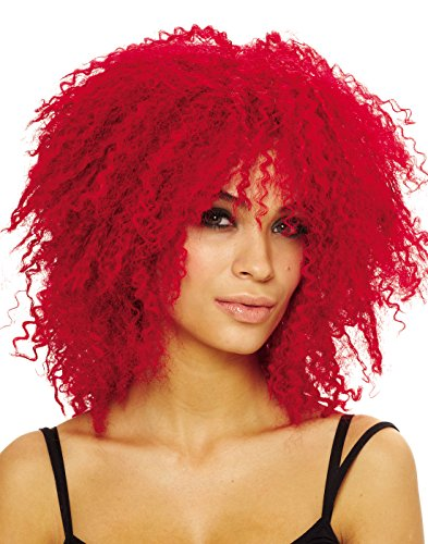 Costume Culture Women's Coolness Wig, Neon Red, One Size
