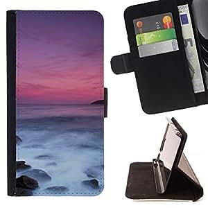 For Sony Xperia Z3 Compact / Z3 Mini (Not Z3) Case , été - la tarjeta de Crédito Slots PU Funda de cuero Monedero caso cubierta de piel