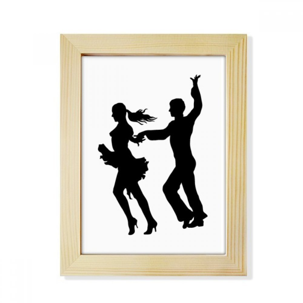 DIYthinker Dancer Duet Dance Performance Art Desktop Wooden Photo Frame Picture Art Painting 6x8 inch