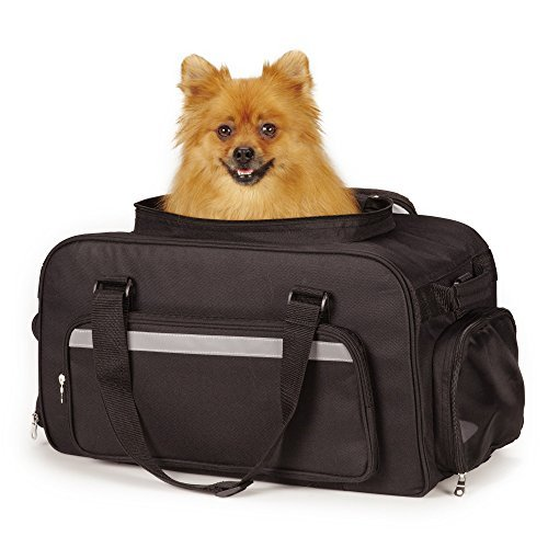 East Side Collection On-the-Go Carry-On Bags - Convenient and Versatile Carriers for Small Dogs and Cats, Black by East Side Collection (Pet Carrier Side Collection East)