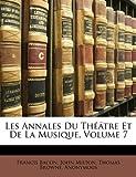 Les Annales du Théâtre et de la Musique, Francis Bacon and John Milton, 1147504938