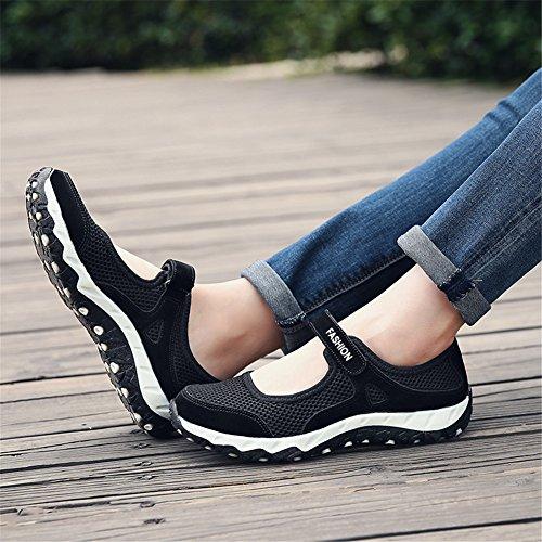 Malla al Negro Transpirable Deportivo con para Aire Libre Altamente Mujer Calzado Velcro Deportivo 40 34 Antideslizante EU de zdSqdT