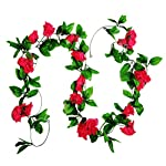 MagicZoo-2Pack18-Rose-Flowers-15FT-Artificial-Rose-Vine-Silk-Flower-Garland-Fake-Hanging-Rose-Flower-Plant-for-Home-Office-Garden-Hotel-Wedding-Party-Decor-2pc-Rose