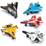 Pull Back Planes Party Bag Fillers Children's Prizes Toys - Pack of 6