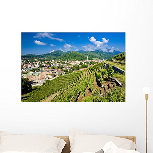 Wallmonkeys Grand Cru Vineyard Thann Wall Mural Peel and Stick Graphic (36 in W x 24 in H) WM317831 Alsace Grand Cru Vineyards